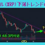 仮想通貨のセリクラ(セリングクライマックス )の意味や理由・原因!2018年6月 リップル(XRP) チャート!下落トレンドはいつまで?どこまで下がる!