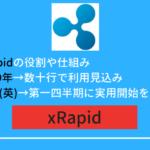 xRapidが銀行で正式採用!実用化の稼働はいつから?読み方や仕組み!リップル(XRP)の価格の推移!